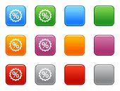 Cor botões com ícone de desconto