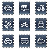 Transport  web icons, navy stamp series