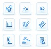 E-business icons,  square ice buttons
