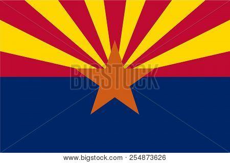 Vector Flag Of Arizona State