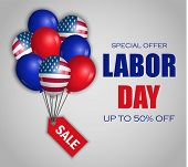 Labor Day Special Sale Concept Background. Realistic Illustration Of Labor Day Special Sale Vector C poster