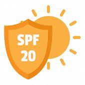 Spf 20 Uv Logo. Flat Illustration Of Spf 20 Uv Logo For Web Design poster