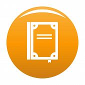Book Publication Icon. Simple Illustration Of Book Publication Icon For Any Design Orange poster