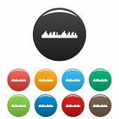 Equalizer Frequency Icon. Simple Illustration Of Equalizer Frequency Icons Set Color Isolated On Whi poster
