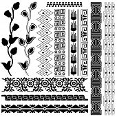 image of american indian  - Vector image of ancient american pattern on white - JPG