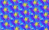 Variegated Ultraviolet Background Of Waves Sea Sunset, Light On Bubbles And Striped Waveform. Eps10  poster
