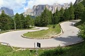 Winding Road On Dolomites