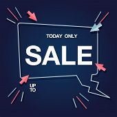 Today Only Sale Up To Speech Background Vector Image poster