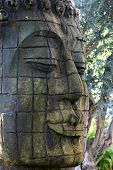 picture of siddhartha  - the Buddha portrait statue standing outdoors - JPG