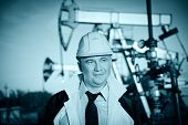 Worker In An Oil Field