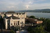 Zurich Opera House And Lake Of Zurich