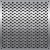 Shiny metal grid. All elements are separated. File is layered