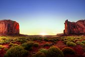 Sunset In Monument Valley poster