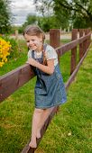 Little Naughty Russian Girl Spends Summer Vacation In The Village. poster