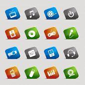 Cut Squares - Media Icons