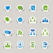 Scherenschnitt - Social Media icons