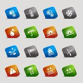 Cut Squares - Weather Icons