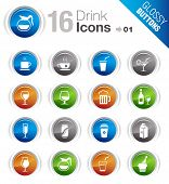 Glossy Buttons - Drink Icons