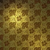 Fundo hibisco ouro
