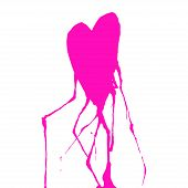 Handdrawn Heart With Veins. Ink Drop. Vector Illustration poster