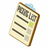 Packing List Icon. Isometric 3d Illustration Of Packing List Icon For Web poster
