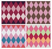 Classic argyle pattern in four color schemes.