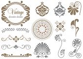 Vintage design elements for decoration