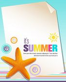 picture of summer fun  - Colorful summer background with starfish - JPG