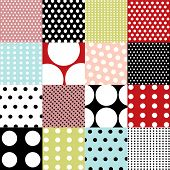 stock photo of dot pattern  - seamless patterns - JPG