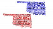 Sketch Oklahoma (united States Of America) Letter Text Map, Oklahoma Map - In The Shape Of The Conti poster