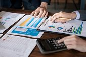 Businessman Planning, Design, Give An Advice Loans, Loan Calculators poster
