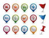 stock photo of gps navigation  - GPS Icons - JPG