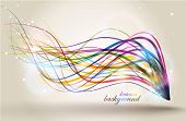 Abstract background with colorful lines.