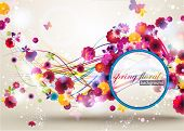Primavera Floral Background.