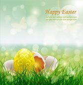 Beautiful Easter Background, Vector Illustrator.