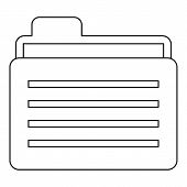 Folder Icon. Outline Illustration Of Folder Icon For Web poster