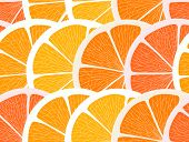Citrus segments seamless background