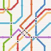 Cor de fundo transparente esquema metro