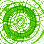 Grüne Öko-Hintergrund mit Pfeilen