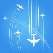 Transport and civil airplanes trajectories