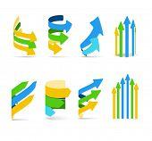 Color arrows set. Cold gamma