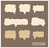 Paper style vector speech bubbles for the text
