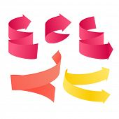 Paper stayle vector navigation arrows