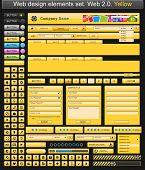 Web design elements yellow. Vector illustration