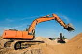 Excavators at a Sand Quarry