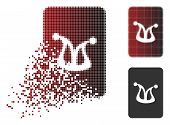 Joker Gaming Card Icon In Sparkle, Dotted Halftone And Undamaged Entire Variants. Fragments Are Comp poster