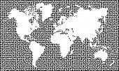 Mapa del laberinto de tierra Vector