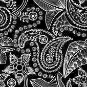 Paisley seamless background