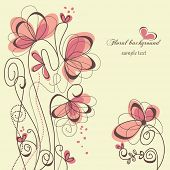 foto of swirly  - Cute floral background - JPG