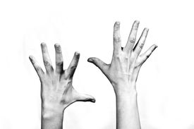 picture of hands up  - emotion series - JPG